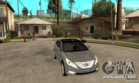 Hyundai Sonata 2011 for GTA San Andreas back view