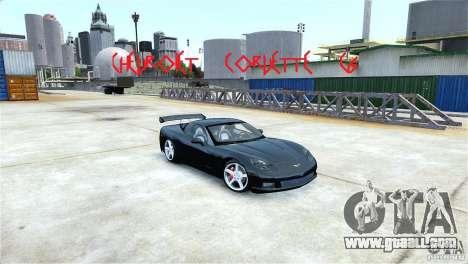 Chevrolet Corvette C6 Convertible v1.0 for GTA 4 inner view