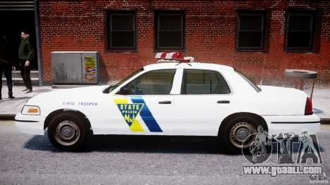 Ford Crown Victoria New Jersey State Police for GTA 4 back left view