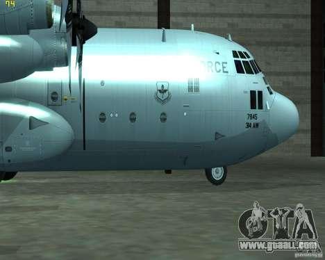 C-130 hercules for GTA San Andreas back left view