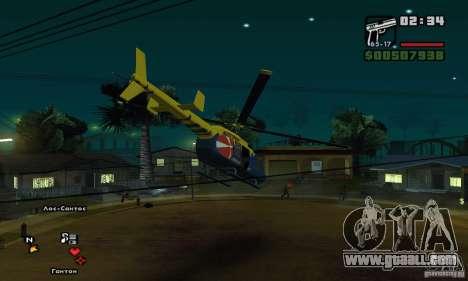 Helitours Maverick from GTA 4 for GTA San Andreas back view