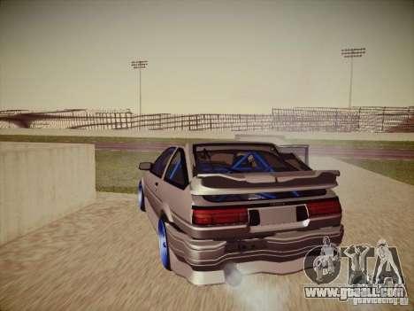 Toyota Corolla AE86 for GTA San Andreas upper view
