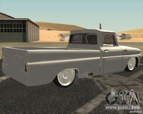 Chevrolet C10 1966 Low Gray for GTA San Andreas left view