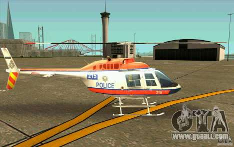 Bell 206 B Police texture2 for GTA San Andreas back left view