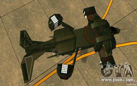 Aliens vs. Predator Marine Drobship for GTA San Andreas back view
