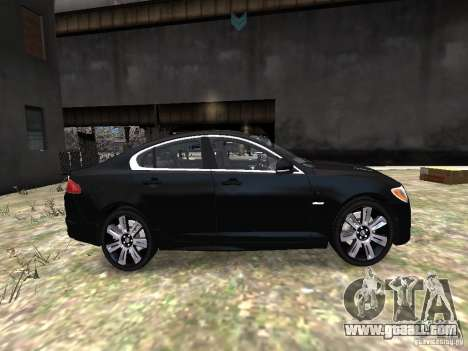 Jaguar XFR for GTA 4 inner view
