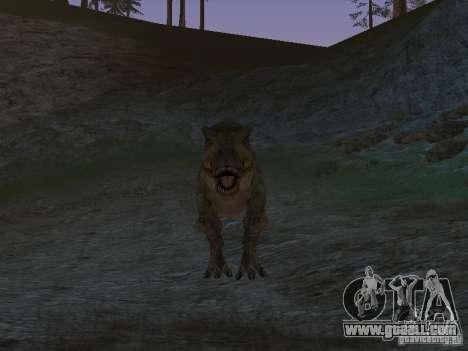 Dinosaurs Attack mod for GTA San Andreas sixth screenshot
