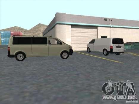 VW Transporter T5 2.5 TDI long for GTA San Andreas back view