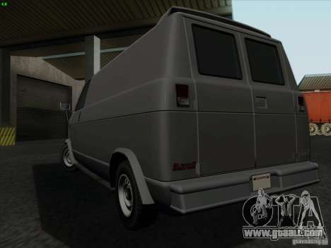 Burrito 2007 for GTA San Andreas back left view