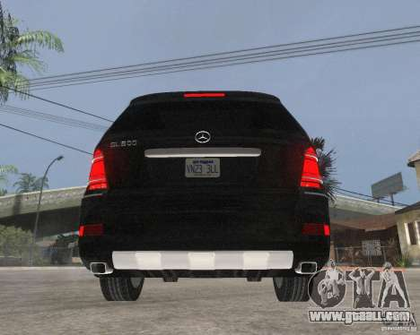 Mercedes-Benz GL500 SE for GTA San Andreas back left view