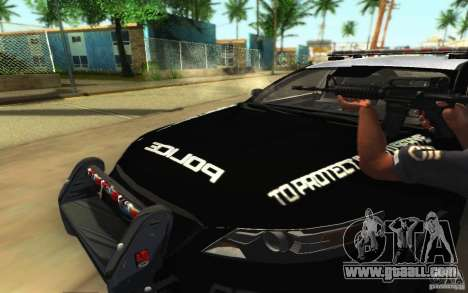 Ford Taurus 2011 LAPD Police for GTA San Andreas interior