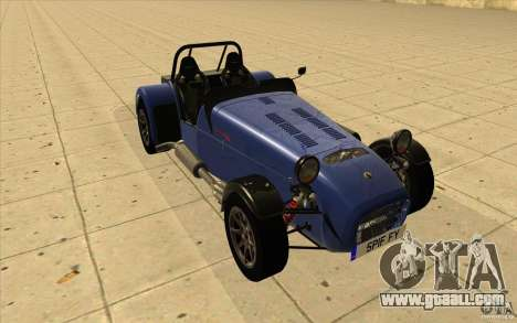 Caterham Superlight R500 for GTA San Andreas back view