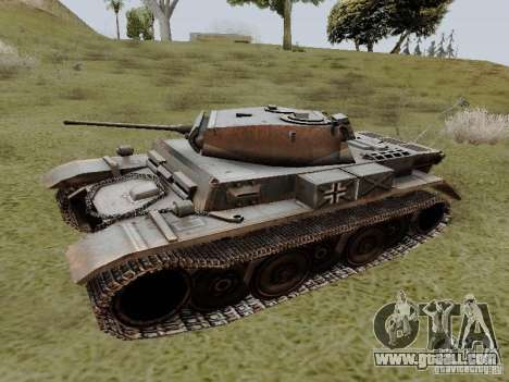 PzKpfw II Ausf.B for GTA San Andreas left view