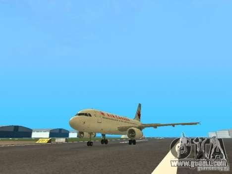 Airbus A319 Air Canada for GTA San Andreas
