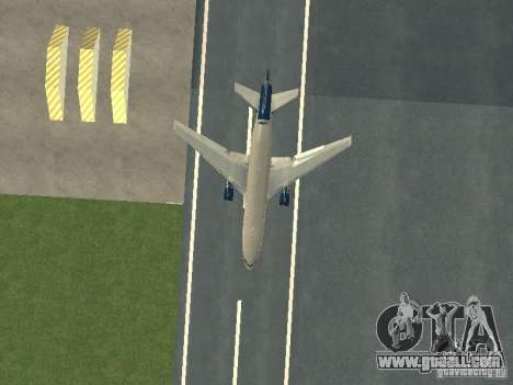 McDonell Douglas DC10 United Airlines for GTA San Andreas inner view