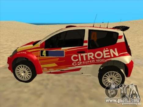 Citroen Rally Car for GTA San Andreas left view