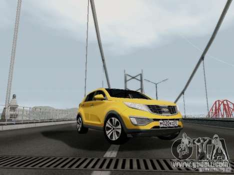 KIA Sportage for GTA San Andreas back left view