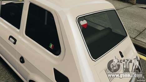 Fiat 126 Classic for GTA 4 inner view