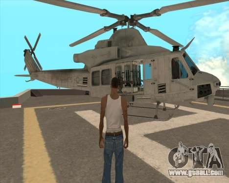 UH-1 Iroquois for GTA San Andreas side view