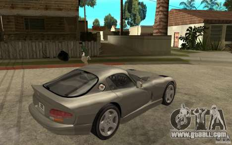 Dodge Viper GTS for GTA San Andreas right view