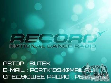 Radio Record by BuTeK for GTA Vice City third screenshot