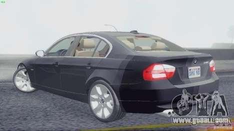BMW 330i e90 for GTA San Andreas left view