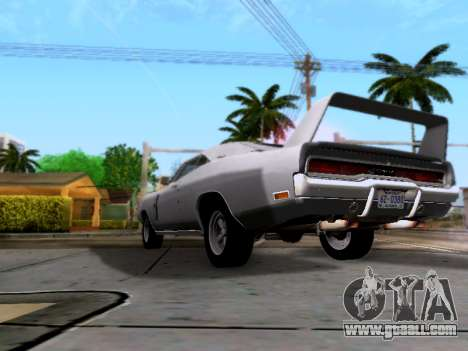 Dodge Charger RT for GTA San Andreas back view