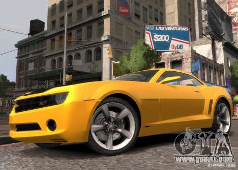 Chevrolet Camaro concept 2007 for GTA 4 left view