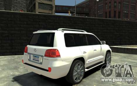 Lexus LX 570 v1.0 for GTA 4 right view