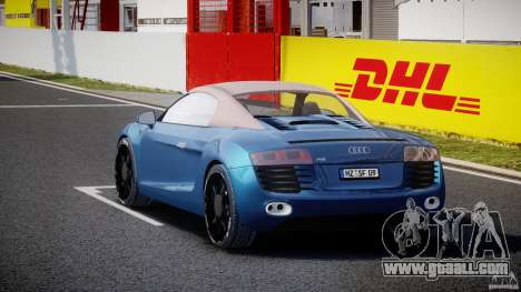 Audi R8 Spyder v2 2010 for GTA 4 side view