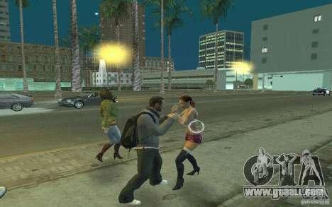 Animation of GTA IV for GTA San Andreas sixth screenshot