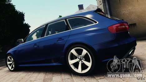 Audi RS4 Avant 2013 v2.0 for GTA 4 left view