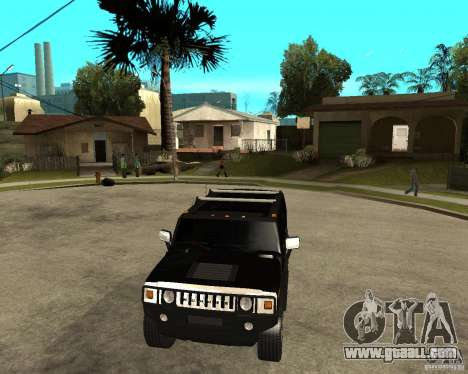 AMG H2 HUMMER SUV FBI for GTA San Andreas back view