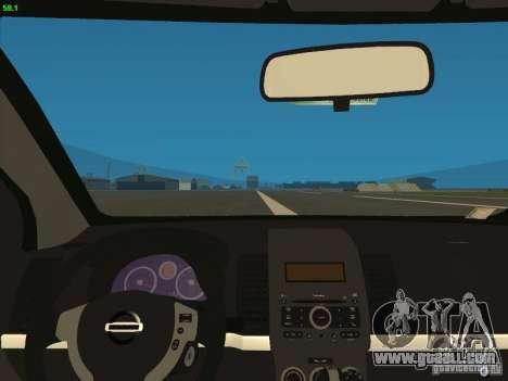 Nissan Sentra 2012 for GTA San Andreas back view