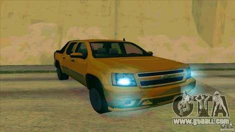 Chevrolet Avalanche 2011 for GTA San Andreas