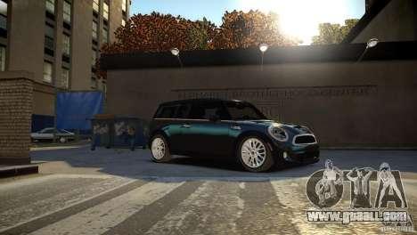 Mini Cooper Clubman for GTA 4 back view