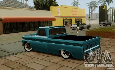 Chevrolet C10 for GTA San Andreas back left view