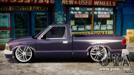 Chevrolet S10 1996 Draggin [Beta] for GTA 4 left view