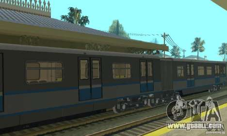 Rusich 4 train for GTA San Andreas back view