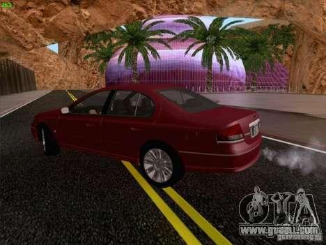 Ford Falcon Fairmont Ghia for GTA San Andreas inner view