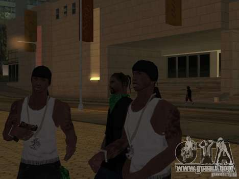 Replace all skins Grove Street Families for GTA San Andreas