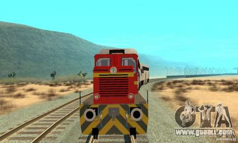 Locomotive LDH 18 for GTA San Andreas left view