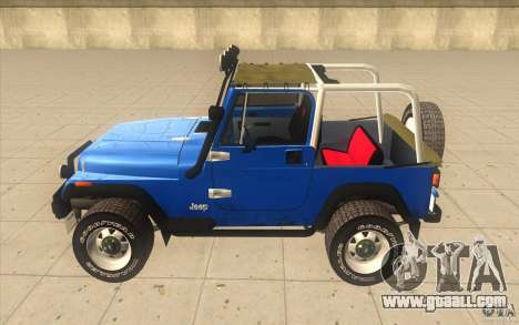 Jeep Wrangler 4.0 Fury 1986 for GTA San Andreas left view