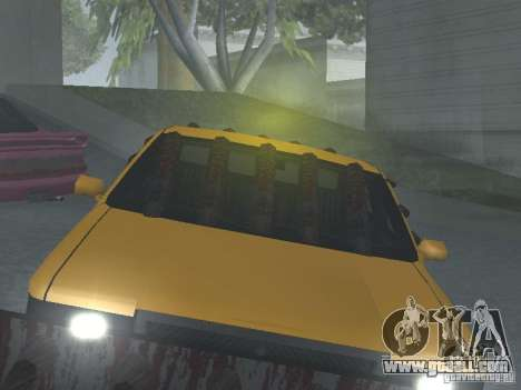 Zombie Taxi for GTA San Andreas inner view