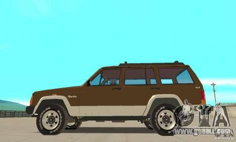 Jeep Grand Cherokee 1986 for GTA San Andreas left view