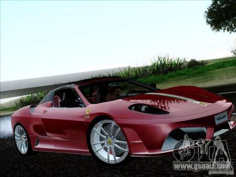 Ferrari F430 Scuderia Spider 16M for GTA San Andreas back view