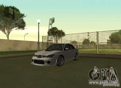 Subaru Impreza WRX STI-Street Racing for GTA San Andreas inner view