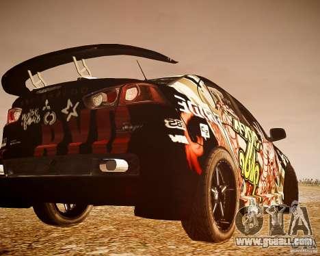 Mitsubishi Lancer Evo X Ryo King for GTA 4 back left view