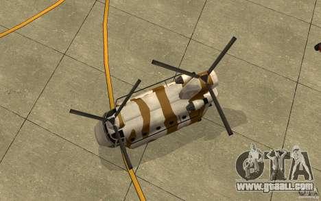 GTA SA Chinook Mod for GTA San Andreas inner view