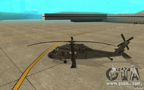 UH-60 Black Hawk for GTA San Andreas back left view
